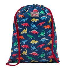 Dino Stamps Kids Drawstring Bag   Dino Print   CathKidston
