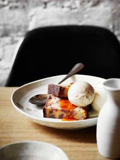 Dandelion: Caramelised banana cake with tamarind and coconut ice-creams