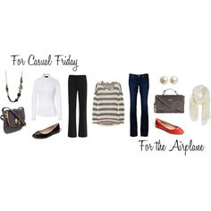Two Ways: Striped Tee, created by caphillstyle on Polyvore