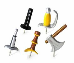 Medieval Weapons Push Pins - What guy wouldn't love these