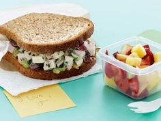 This upgraded Crunchy Turkey Salad Sandwich features ingredients like mayonnaise and celery, as well as some unconventional ones like grapes and almonds.