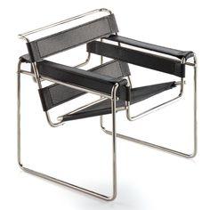 B3 Wassily  Auch der Clubsessel B3, heute als »Wassily« bekannt, entstand im Umfeld von Bauhaus. Designer: Marcel Breuer  Jahr: 1925 Hersteller: Knoll 230€