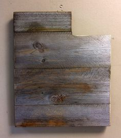 A personal favorite from my Etsy shop https://www.etsy.com/listing/454430668/utah-state-shape-rustic-wood-sign-hanger