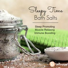 Sleepy Time Bath Salts. Boost your immune system and help promote sleep! Safe for kids and adults. The perfect gift too.