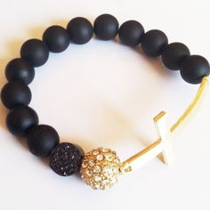 GageHuntley.com #gold #pave #druzy #black #matte #beaded #jewelry #bracelet #accessories #jewelry #armswag #bling