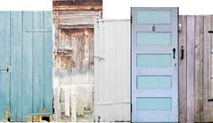 go to the rebuilding center and get doors of different colors. hang them all along the chain link fence to create an interesting privacy wall. OR hang one brightly painted door on the fence as the door to Narnia