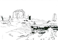 Arizona  by ObalofSerbia  Drawing from my old profile - palerider12 - so i decided to upload it to my new profile. Done with pen and brush. #arizona #drawing #illustration #art #ink #inkpainting #traditional #pen #pendrawing #desert #western