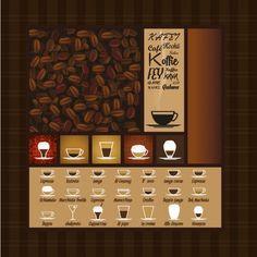 Coffee Varieties Menu Free Vector
