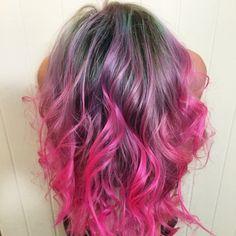 #pinkhair #neonhair#pastelhair#minthair#purplehair #ombre #fantasyhair @thelabasalon @skylaenorelle