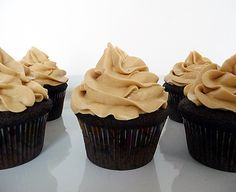 Chocolate cupcakes with peanut butter frosting. Also, lots of other cupcake recipes on this site!