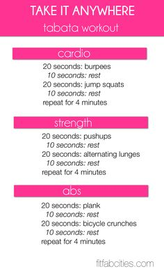 """Take It Anywhere"" Tabata Workout"