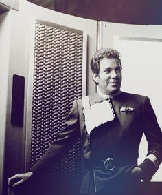 William Shatner - The textured panel on the wall is actually foam carpet underlayment!