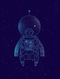 """Help Ink is a project selling posters to help a range of charities, with a poster by a new artist available every two weeks. This illustration called """"The Traveler"""" is by Richard Perez. Art And Illustration, Illustrations Posters, Astronaut Illustration, Graphic Art, Graphic Design, Illustrators, Cool Art, Concept Art, Street Art"""
