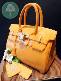 3D Birkin Bag cake. Entirely edible