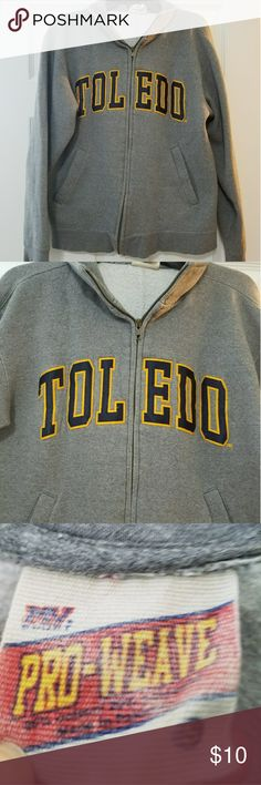 University of Toledo Full Zip Jacket Super comfortable and great for a Rocket football game! Definitely could fit a small/medium comfortably. Jackets & Coats