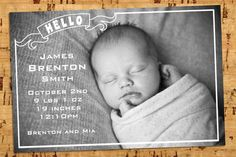 Fantastic baby announcement!