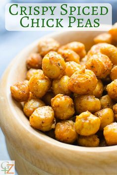 Crispy Spiced Chick Peas | Garlic + Zest
