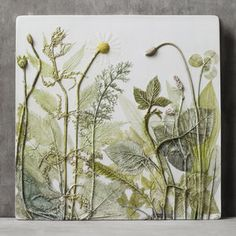 Pin by jean gridley on plaster tiles штукатурка, картины, искусство. Plaster Sculpture, Plaster Art, Sculpture Art, Ephemeral Art, Nature Crafts, Tile Art, Botanical Prints, Clay Art, Art Projects