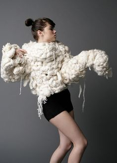 Ginna Lee LOVE oversized knits. Love knits, but this looks more like a knot?!