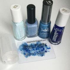Little Fairy: Reto de Colores: Azul - Saran Wrap con Stamper