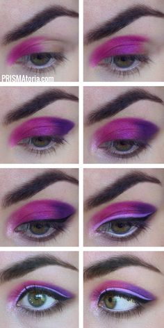 UD electric palette pinks+purples makeup tutorial
