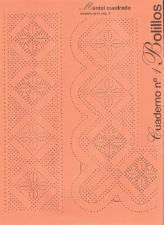 Bobbin Lace Patterns, Knitting Patterns, Crochet Borders, Tatting, Diy And Crafts, Crafty, How To Make, Cake Ideas, Albums