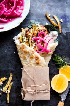 Roasted Chicken Gyros with Tzatziki and Feta Fries | halfbakedharvest.com #greek #gyro #easyrecipes #healthy #chicken