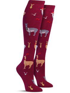 Llama Drama Knee High Socks