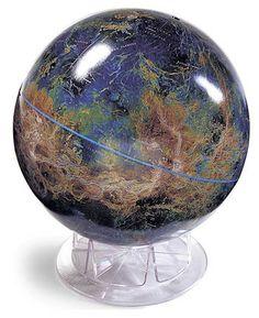 Travels Vintage Globe Art By Wendygold On Etsy DIY Upcycled - Globe elevation