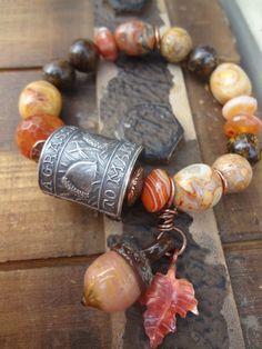Anne Choi Acorn Bracelet Fall Bohemian Bracelet by FeminineGenius