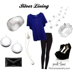 """Silver Lining"" by parklanejewelry on Polyvore.  NYE outfit maybe?"