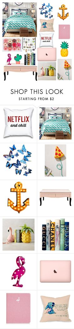 """""""Sem título #89"""" by angelica-curitiba ❤ liked on Polyvore featuring PBteen, Urban Outfitters, Motif Designs, Skinnydip, Disney and Umbra"""