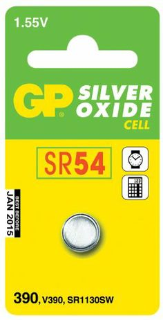 GP Batteries 390-A1 (SR54) Silver Oxide Button Cell Battery. Priced And Sold Individually has been published to http://www.discounted-quality-watches.com/2014/06/gp-batteries-390-a1-sr54-silver-oxide-button-cell-battery-priced-and-sold-individually/