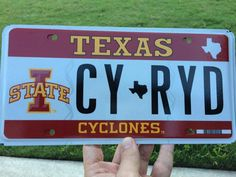 Steve Johnson's Texas license plate. We want to see yours. Send license plate photos to Kate at kbruns@iastate.edu and help us collect at least one plate from all 50 states!