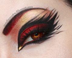 The makeups of Halloween are the right match. So here we have 15 best spider web, cat & bat eye makeup looks & ideas of 2015 for Halloween. Punk Makeup, Makeup Geek, Makeup Inspo, Makeup Art, Makeup Inspiration, Dance Makeup, Retro Makeup, Gothic Makeup, Makeup Ideas