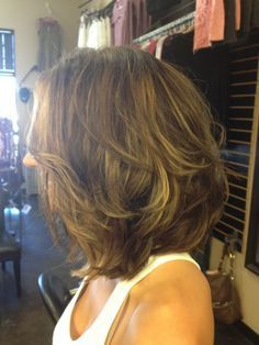 Long bob cut with layers by ForgetAboutMe