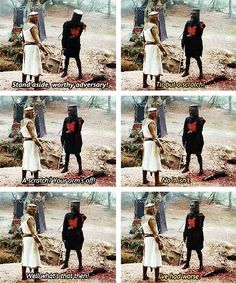 """And then, of course, there's the Black Knight. 