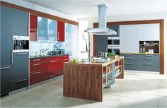 Küche | Mattlack und Glanzlack | modern | Kücheninsel | in unterschiedlichen Farben erhältlich - bei Möbel Morschett