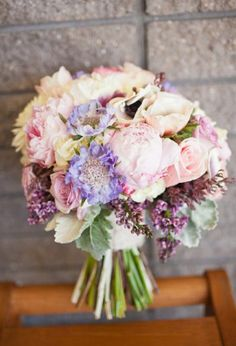 Bouquet with pretty pastels