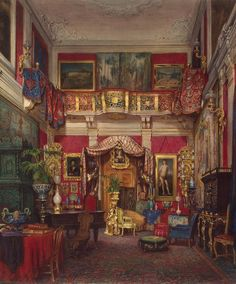 Emmanuel Stockler, Room in the Quarto Villa, Near Florence, 1873