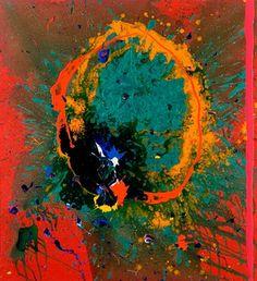 "John Hoyland (England 1934-2011) - ""Restless Heart"", 03.08.08, 60 x 55, Acrylic on cotton duck"