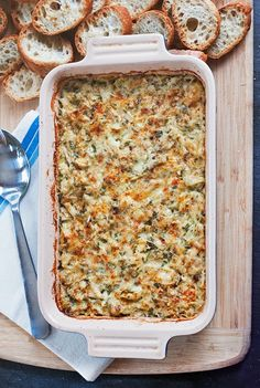Elevate the typical artichoke dip with a healthy dose of crab. You'll thank me for it.