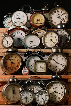 vintage clock collection