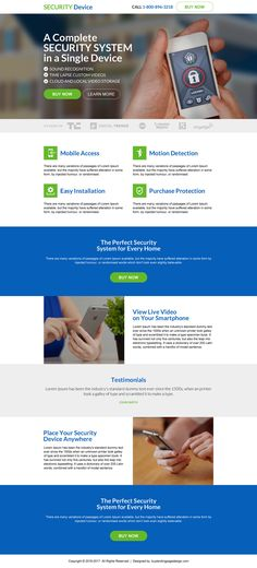 Best Home Security Lead Capturing Landing Page Design Template