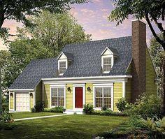 House plans with detached garage breezeway 300 225 for Cape cod garage doors