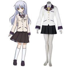 Angel Beats! Tachibana Kanade 1ST Cosplay Costumes