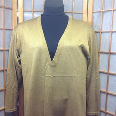 Tunic Sweater Great condition. Long sleeve tunic.  Materials silk and lurex. Tops Tunics