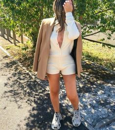 Jumpsuit Outfit, Blazer, Jackets, Outfits, Women, Fashion, Down Jackets, Moda, Suits