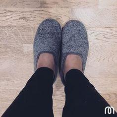 mahabis light grey classic ladies slipper top down view // #mahabisselfie