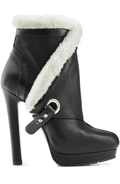 Leather Ankle Boots with Sheepskin Lining detail 1